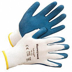 Coated Gloves, L, Blue/White, PR