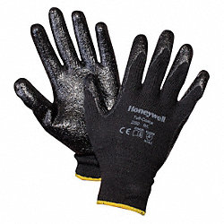 Coated Gloves, L, Black, PR