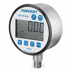 Digital Pressure Gauge, Size 3 In, 60 PSI