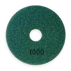 Polishing Pad, Dark Green 1000 Grit, 4 In