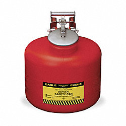 Disposal Can, 3 Gal., Red, Polyethylene