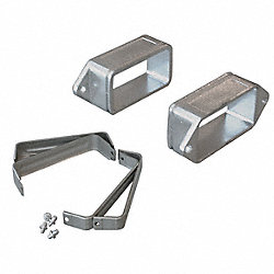 Mtg Bracket Set, Flexible Steel, 160mm