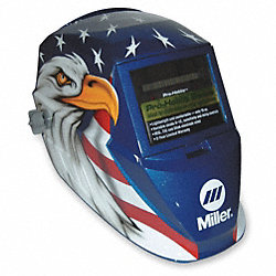Welding Helmet, Blue w/ Eagle, Shade 8-12