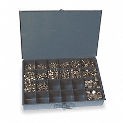 Hex Locknut Assortment, 1090Pcs, 16sz, SS