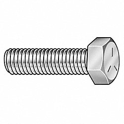 Hex Cap Screw, Stl, 1/4-20x1/2, PK100