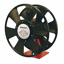 Welding Cable Reel, Hand Crank, 250 Ft Cap