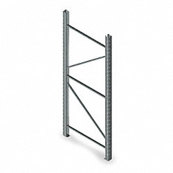 Welded Upright Frame, 42 D x 120 H, Gray