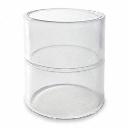 Coupling, 1 In, Solvent, PVC, Clear
