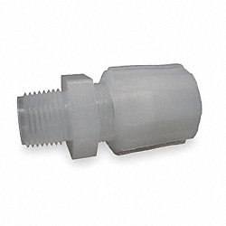 Male Straight Adapter, 1/2 In Tube Sz
