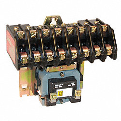 Light Contactor, Elec, 277V, 30A, Open, 8P