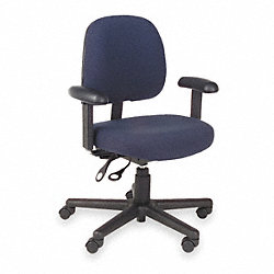 Task Chair, Blue, Fabric, Adjust Arms