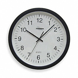 Clock, Rnd, Anlg, 13 3/4in, Wall, Blk