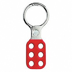 Lockout Hasp, Snap-On, 6 Lock, Red