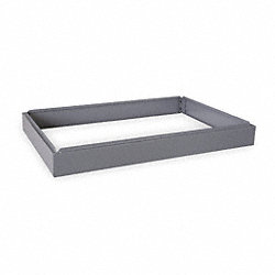 Flat File Cabinet, Closed Base, Gray