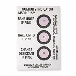 Humidity Indicator, 3 x 2 In. Card, PK125