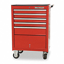 Rolling Tool Cabinet, 27 In W, 5 Drawer
