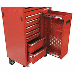 Rolling Tool Cabinet, 27 In W, 7 Drawer
