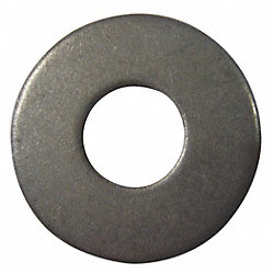 Flat Washer, USS, Steel, Fits 1/2 In, Pk 100