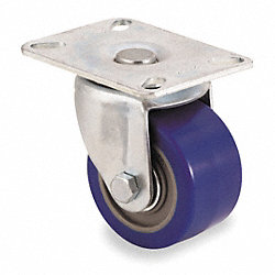 Swivel Plate Caster, 450 lb, 3 In Dia