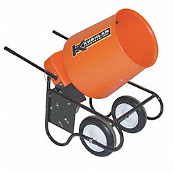 Wheelbarrow Mixer, 3.5 Cu. Ft., 115V, 3/4HP