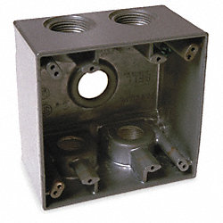 Weatherproof Box, 1 In Hub, 5 Inlets