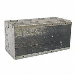 Electrical Masonry Box, 89.8 Cu In, 4 Gang