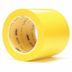 Marking Tape, 4In W, 108 ft. L, Yellow, PK8