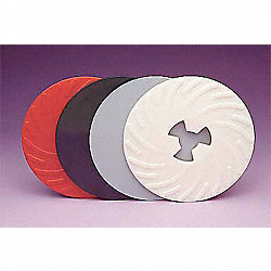 Disc Pad Ribbed Face Plate, 9 In Dia, PK10