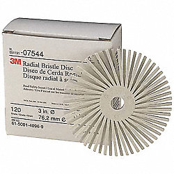 Radial Bristle Disc, TC, 3In Dia, 360G, PK40