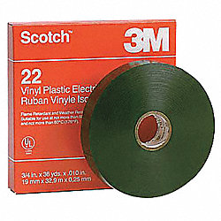 Electrical Tape, 3/4 x 108 ft, 10 mil, PK48