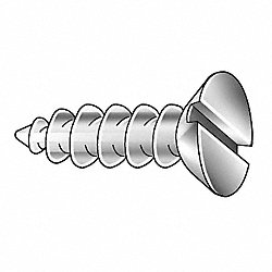 Wood Screw, Flat, #10x3L, Pk100