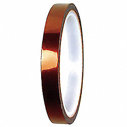Electrical Tape, 1x108 ft, 3 mil, Amber, PK9