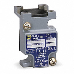 Limit Switch Body, 1NO, 1NC, 10A @ 600V