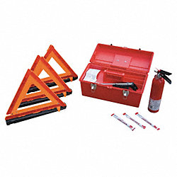 Fleet Safety Kit, 3 Triangles/Lightsticks