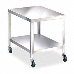 Utility Cart, Cap 500 Lb, Stainless Steel