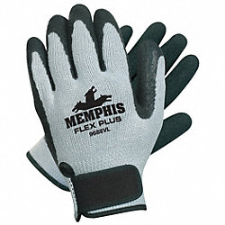 Coated Gloves, Black/Gray, M, PR