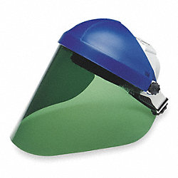 Faceshield Visor, Plycrb, DkGrn, 9x18-1/4in