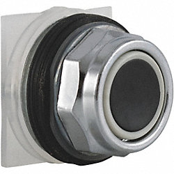 Pushbutton, Black, 30mm