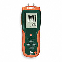 Digital Manometer, 0 to 13.85 In WC