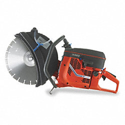 Power Cutter, 2-Cycle, Wet/Dry Cut, 6.1 HP