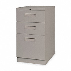 Mobile File Cabinet, Taupe, 3 Drawer