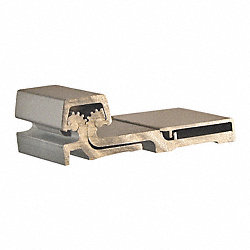 Continuous Geared Hinge, L 83 In, Aluminum