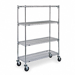 Adjustable Shelf Wire Cart, 18 In. W
