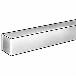 Square Bar, Carbon, 12L14, 1/4 x1/4 Inx3 ft