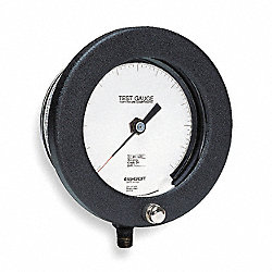 Pressure Gauge, Test, 4 1/2 In, 200Psi, NIST