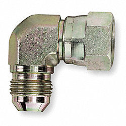 Hose Adapter, JIC, 90 Degree Elbow, Swivel