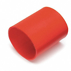 Heat Shrink Tubing, 1/2 In, Red, Pk10