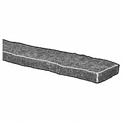 Felt Strip, F7, 1/2 In T, 1 x 120 In