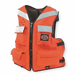 Floatation Vest, Orange, Nylon, 2XL