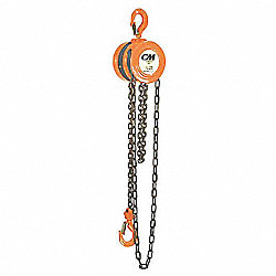 CM Series 622 Hand Chain Hoist, 1/2 Ton